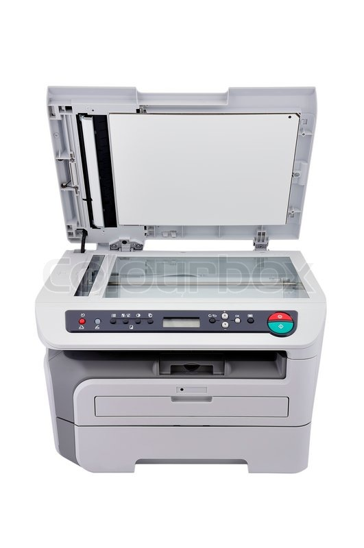 Copier With Lid Open Stock Photo Colourbox