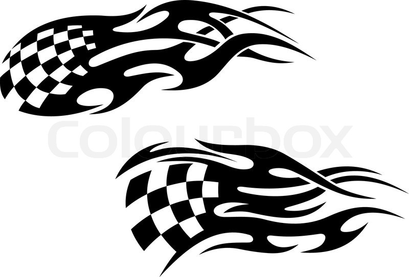 Racing Tattoos Stock Vector Colourbox