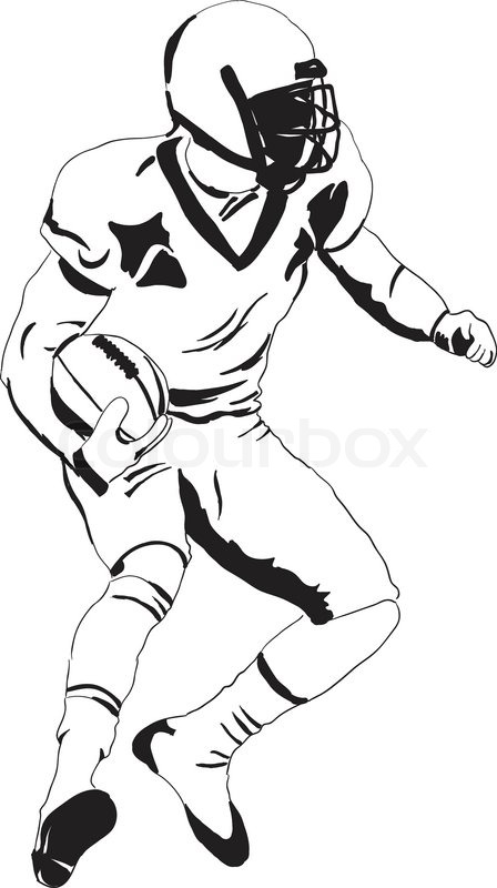 how to draw football vector