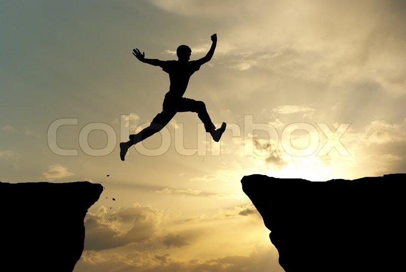Man jump, stock photo