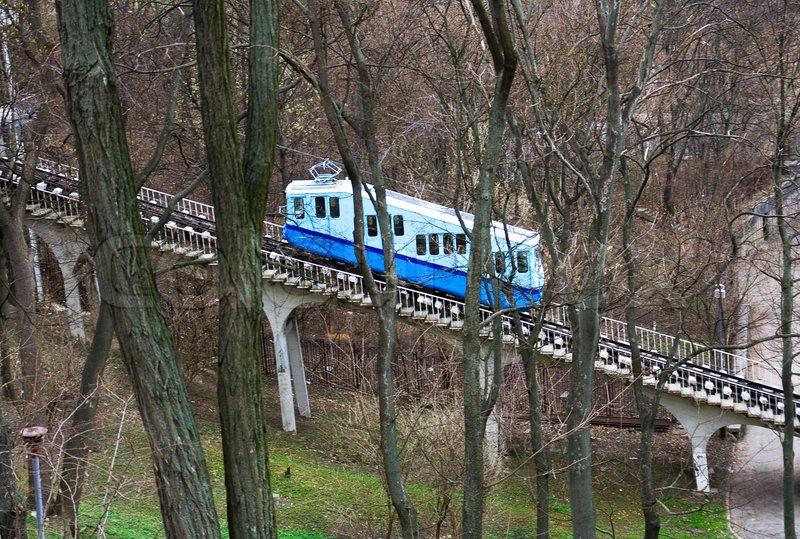 Funiculars... 4454406-railway-funicular-in-kiev-ukraine