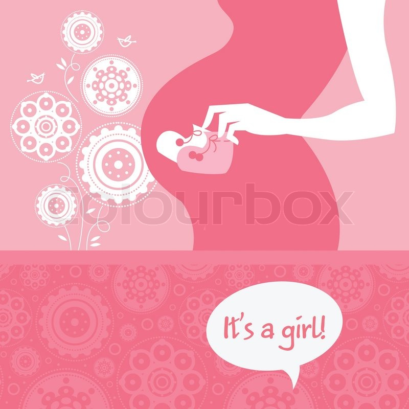 Silhouette pregnant mother with babys bootees newborn baby greeting silhouette pregnant mother with babys bootees newborn baby greeting card vector bookmarktalkfo Choice Image