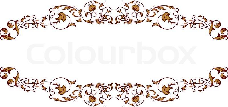 Antique vintage lace border for retro menu text | Vector ...