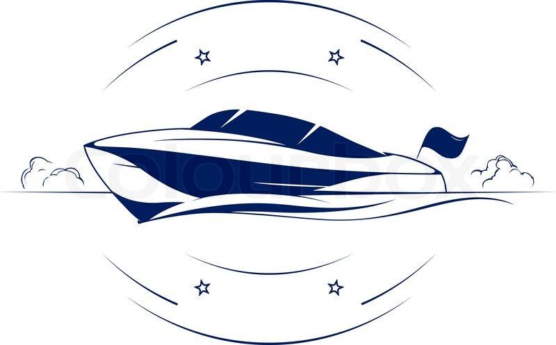Speed boat yacht vector icon | Vector | Colourbox