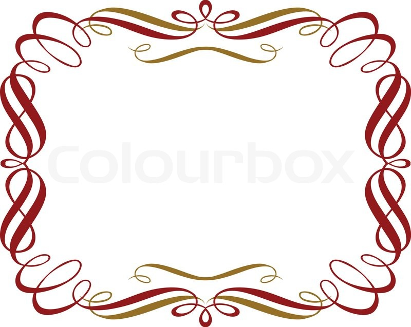 Fancy Gold Border Of 'retro red gold border'