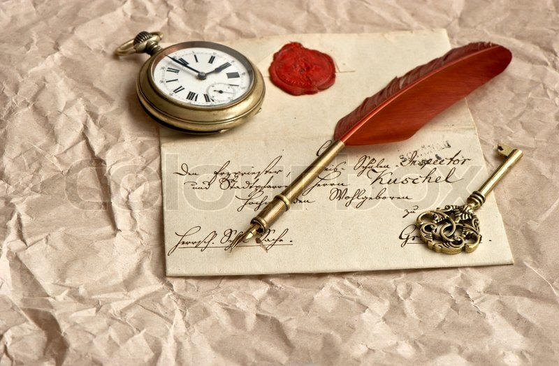 Old letter with wax seal | Stock image | Colourbox