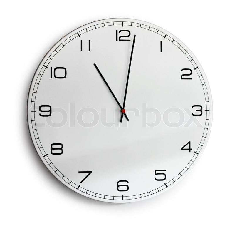 Modern Wall Clock Isolated On White Stock Photo Colourbox