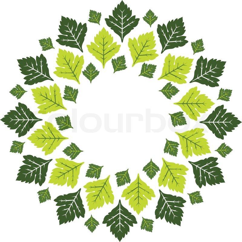 Retro christmas decorations - Maple Leaves Round Design Pattern Vector Colourbox