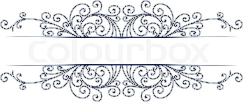 Stylish design vector border | Stock Vector | Colourbox