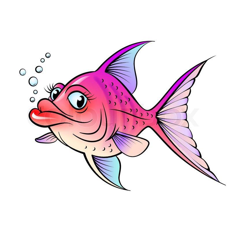 cartoon fish stock vector colourbox