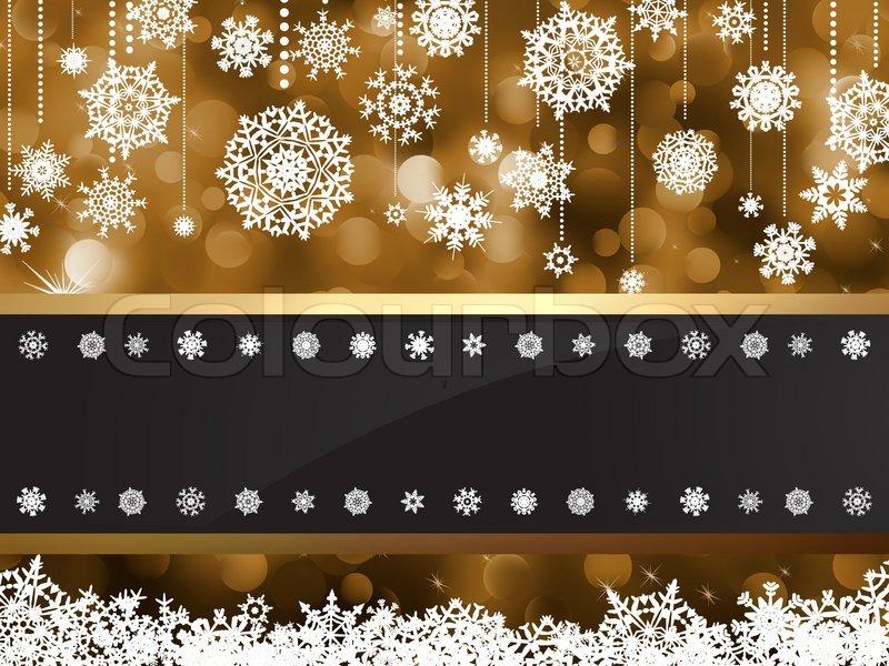 Elegant Christmas Background With Snowflakes Stock Vector: Gold Elegant Christmas Background EPS ...