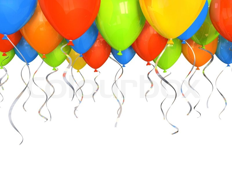 Image of 'Color beautiful party balloons, vector'