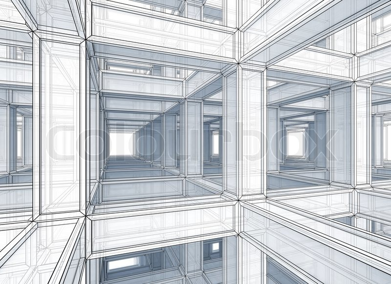 Abstract Architecture Background Internal Space Of A