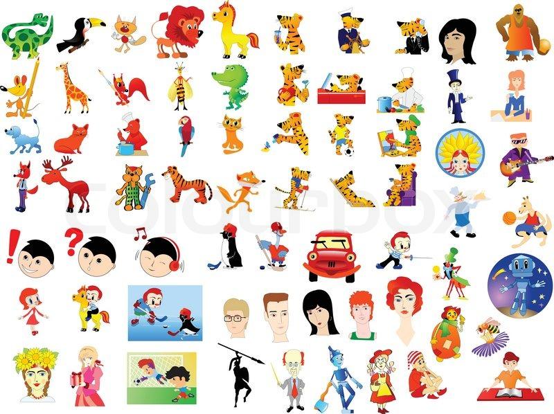 Comic Figuren Vektorgrafik Colourbox