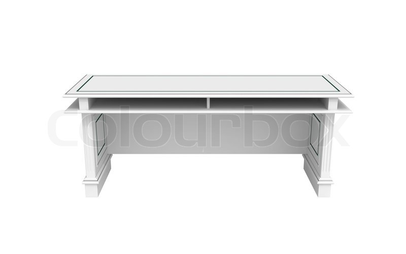 white writing table