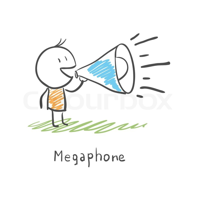 clipart man with megaphone - photo #43