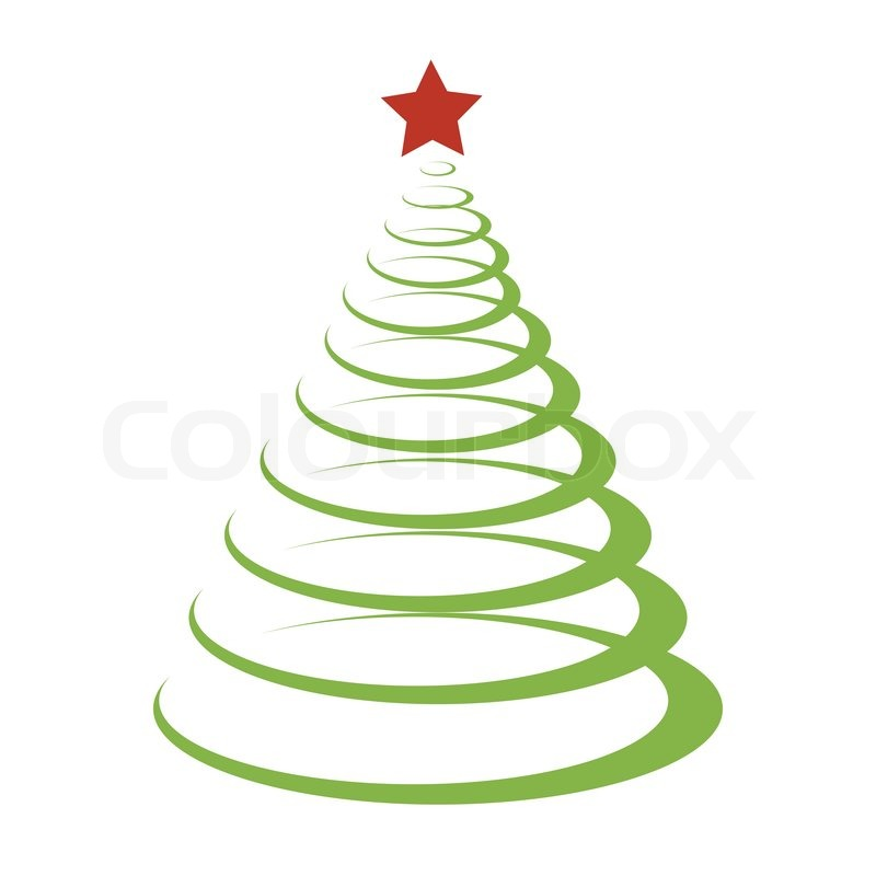 Christmas, modern, tree | Stock Vector | Colourbox
