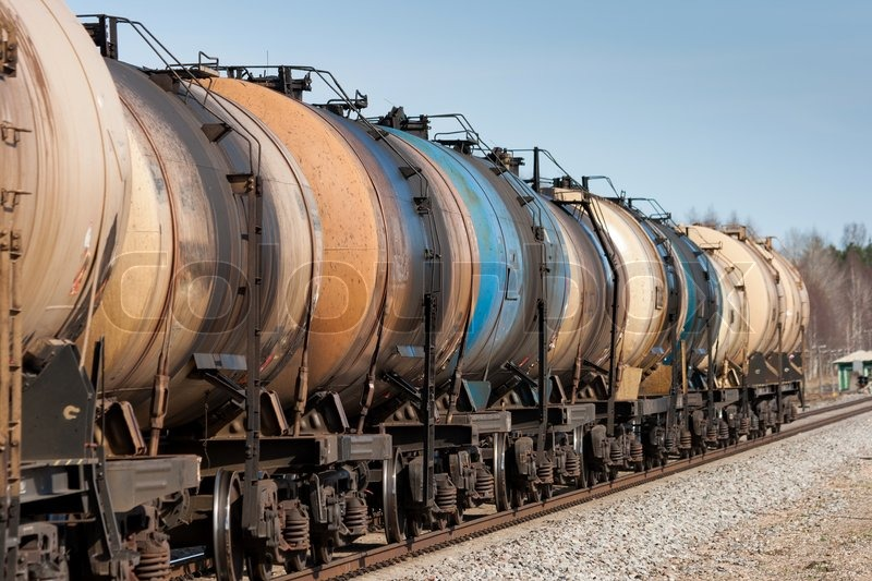 Oil transport, stock photo