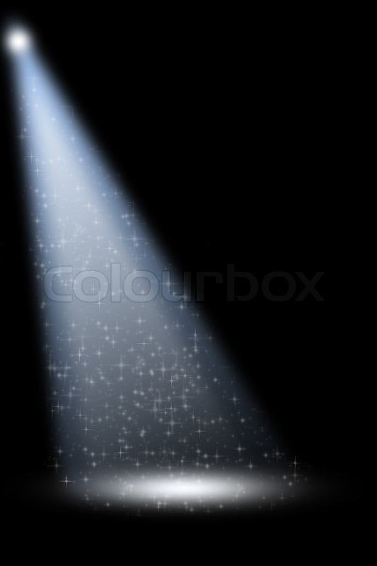 Stage Spotlight With Laser Rays On Stock Image