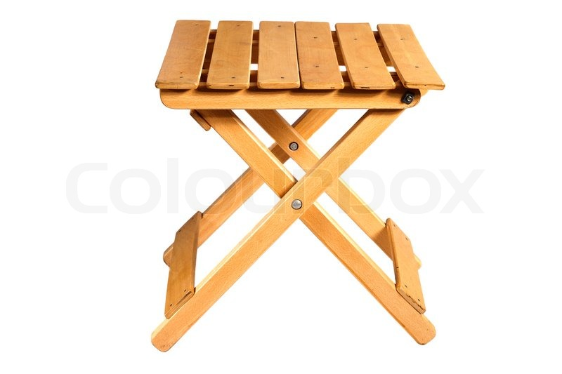 Folding wooden chair Stock Photo Colourbox