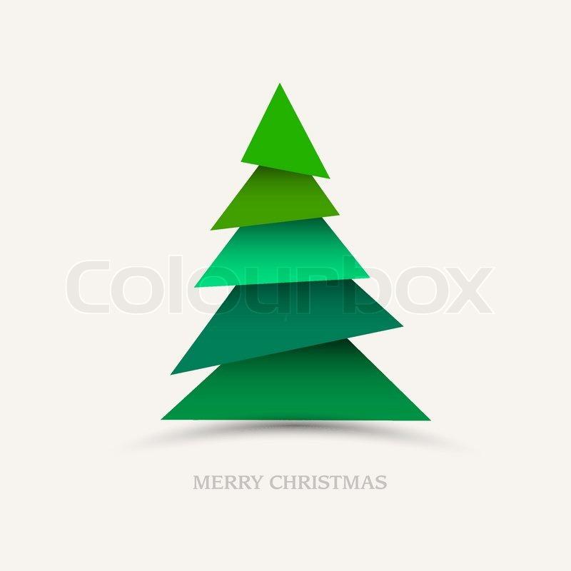 Papier weihnachtsbaum vektorgrafik colourbox - Weihnachtsbaum vektor ...