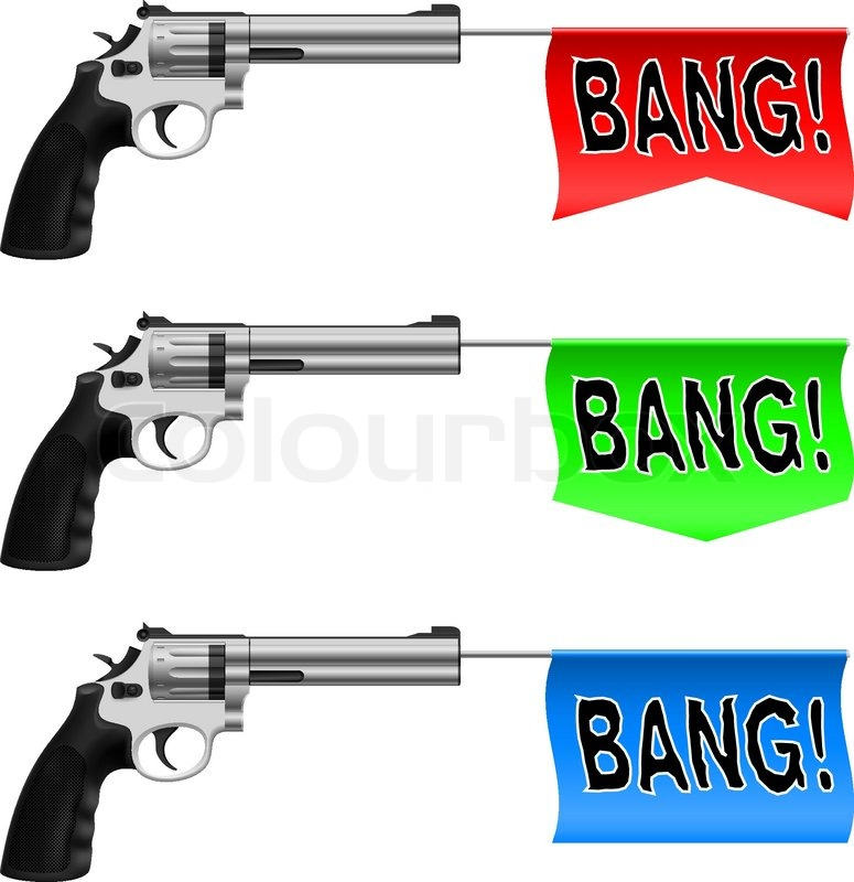 how to make a bang flag gun