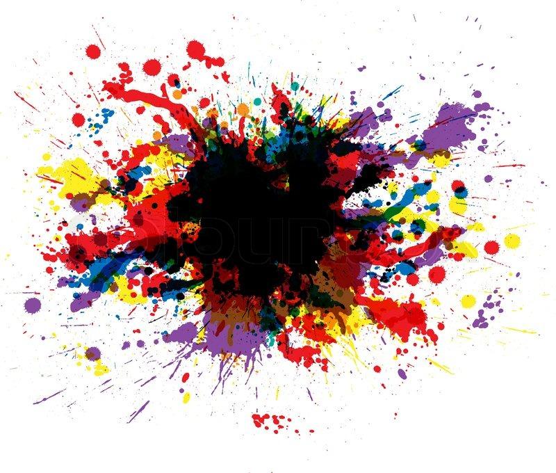 Color Paint Splashes Vector Colourbox