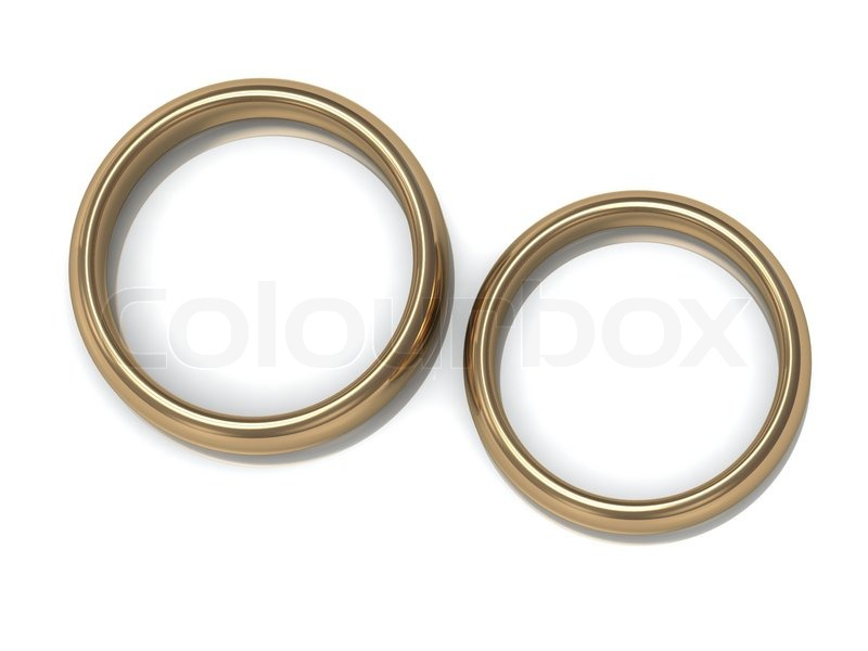 two wedding rings on the top view stock photo colourbox