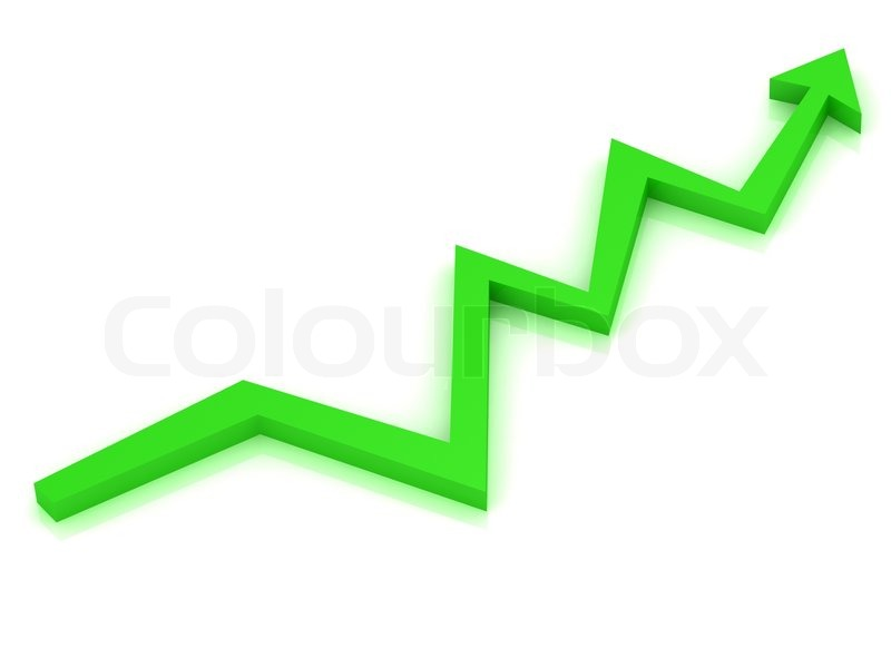growth progress green 3d arrow stock photo colourbox