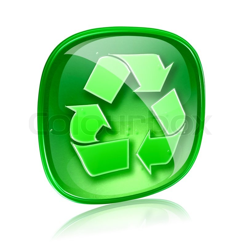 Recycle Glass Symbol Recycling Symbol Icon Green