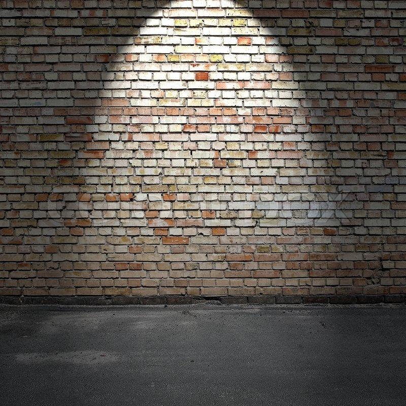 Brick Wall And Concrete Floor Stock Colourbox