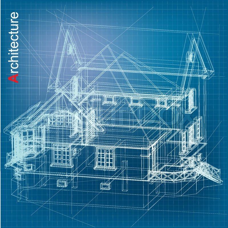 Urban blueprint vector architectural background with a for Architecture blueprint