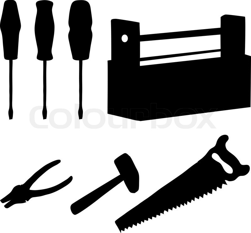 Tools set, silhouettes | Stock Vector | Colourbox