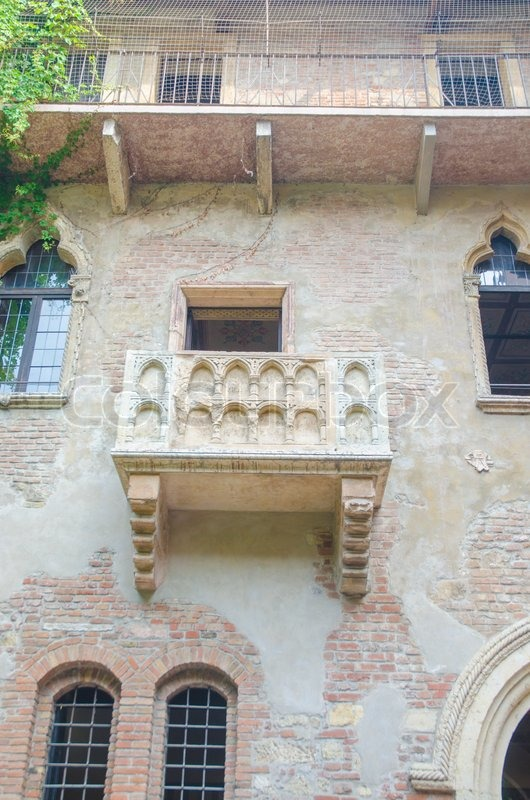 Famous juliet balcony in verona stock photo colourbox for Famous balcony