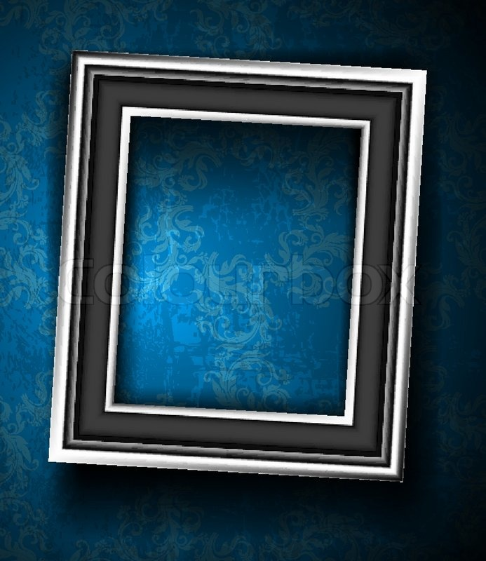 Picture Frame Wallpaper Background Photo Frame on Grunge Wall ...