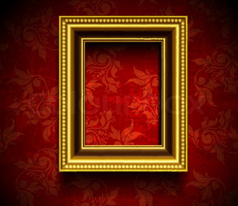 Picture Frame Wallpaper Background Stock Vector