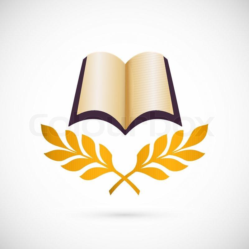 Open Book Vector Icon Education Creative Symbol Design Stock