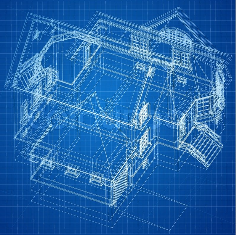 Urban blueprint vector architectural background stock for Where to print blueprints