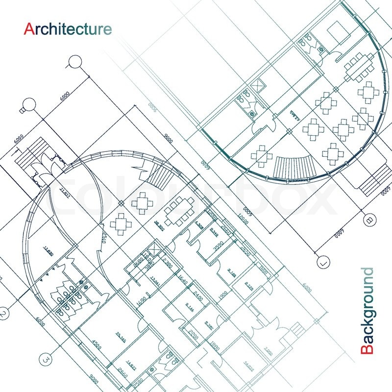 Architectural background part of architectural project for Architecture plan drawing