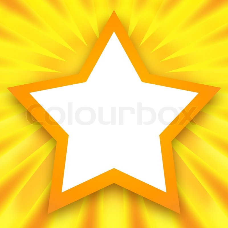 Star Frame Stock Photo Colourbox