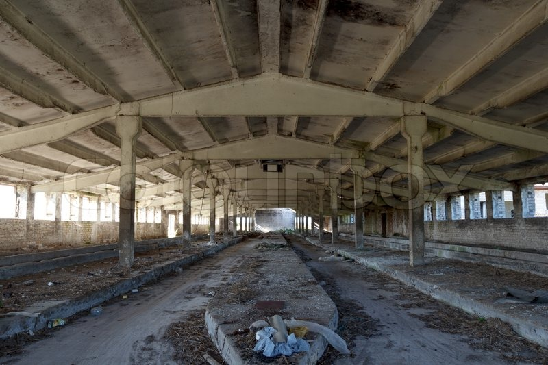 Abandoned industrial building interior | Stock image | Colourbox