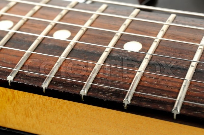 electric guitar strings close up stock photo colourbox. Black Bedroom Furniture Sets. Home Design Ideas