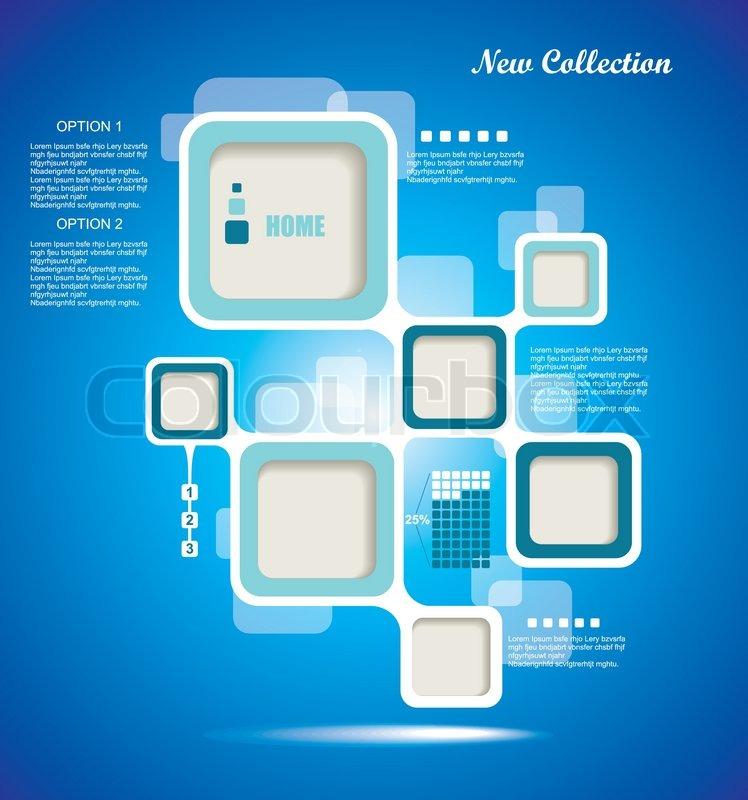Website Template, Vector design frame | Stock Vector | Colourbox