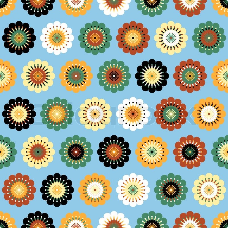 Funky Abstract Seamless Patterns Vector Abstract Seamless Pattern