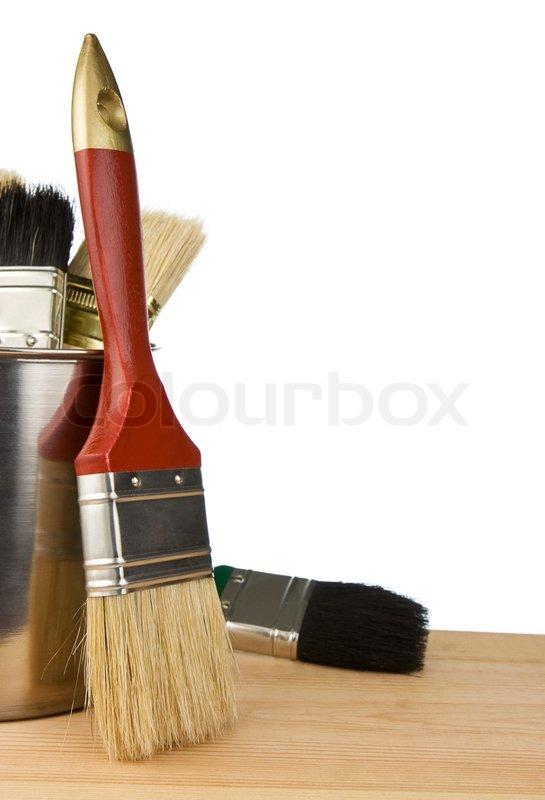 paint bucket and brush - photo #31