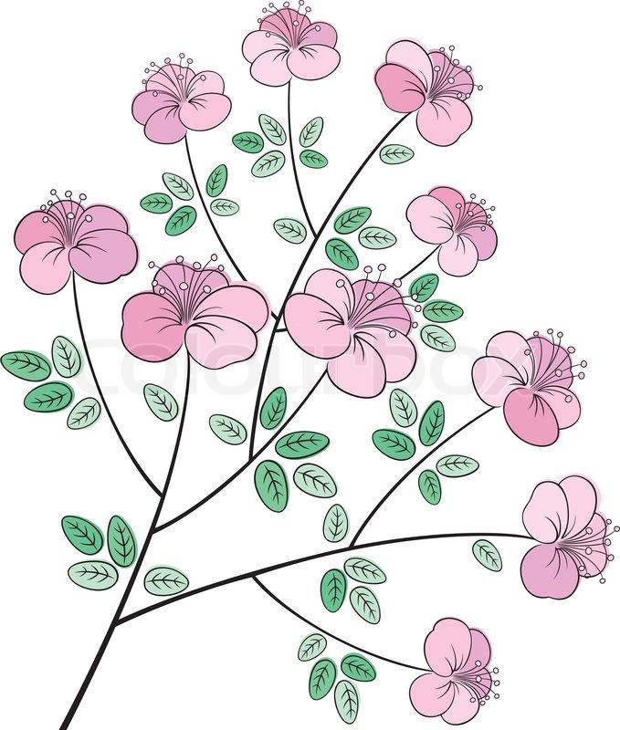 Ziemlich bunte Blume Linie Kunst | Vektorgrafik | Colourbox