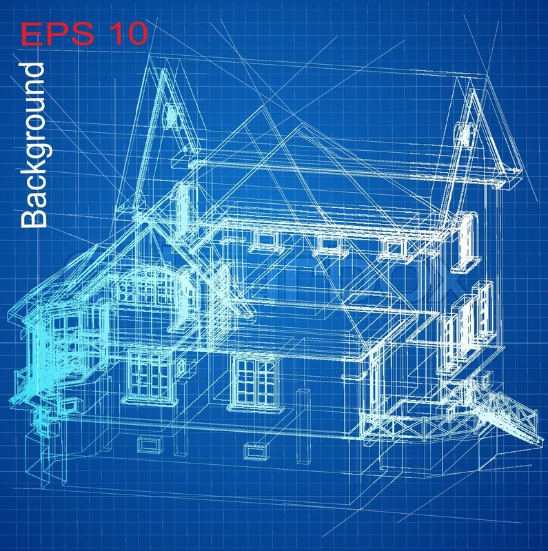 Urban blueprint vector architectural background with a for Blueprint architects