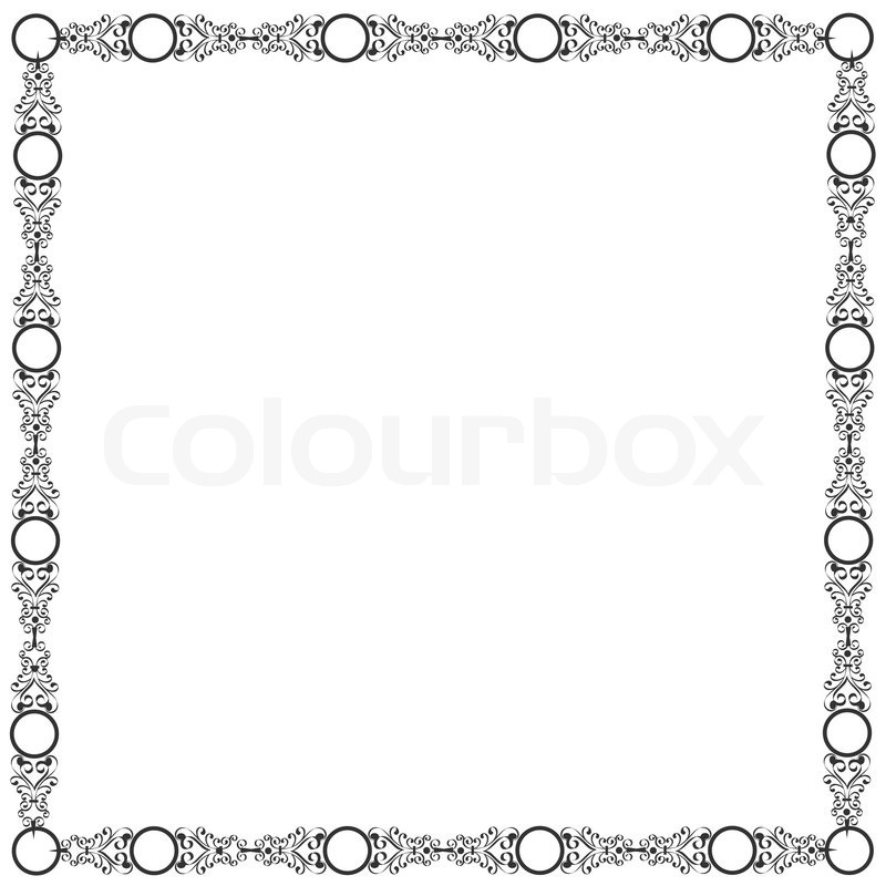 Decorative elegant frame | Stock Vector | Colourbox