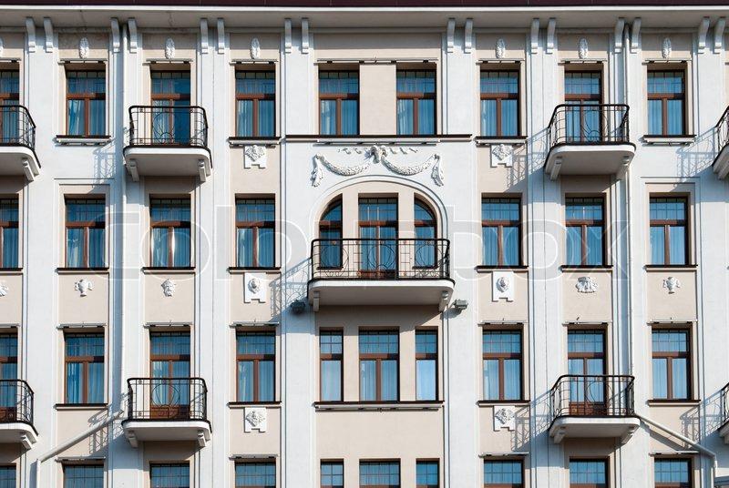 Apartment Building Facade the facade of apartment building | stock photo | colourbox