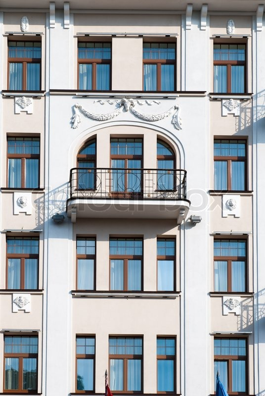 The Facade Of Apartment Building Stock Photo Colourbox